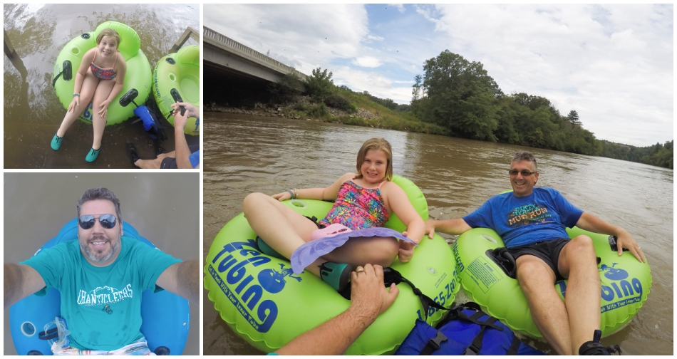 Day one. tubing down the French Broad river.