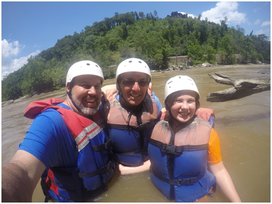 Little family selfie in the river.